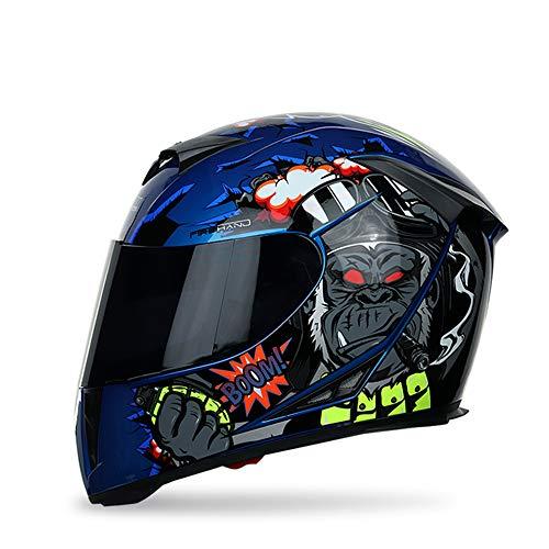 MOTUO Casco de Moto Integral, Casco Moto para Hombres, Mujeres, Cascos de Moto con Visera