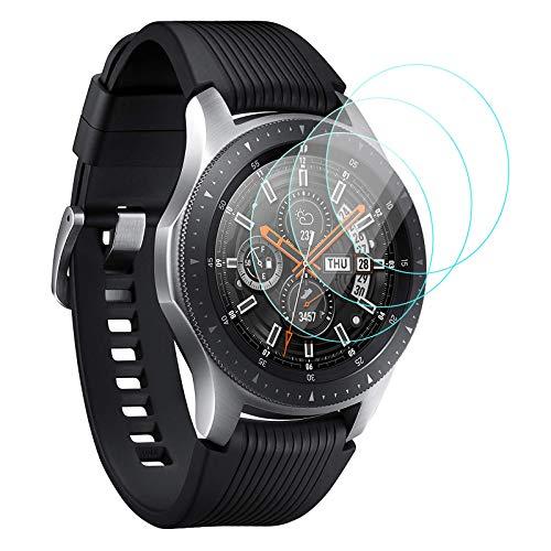 KIMILAR [3 Stück Schutzfolie Kompatibel mit Samsung Galaxy Watch 46mm / Gear S3 Frontier/Classic Panzerglas, (Nicht Fit für Active 2/42mm/40mm) 9H Härte Gehärtetes Glas Displayschutzfolie (99{e509ea15cbe58cbfb956436412fd47570f6abcbc44ec54d9e1011dccc289c3f0} HD)