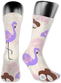 Leila Marcus, Calcetines Leila Marcus para hombre y mujer son cómodos, ligeros y sudorosos, para hombre, novedosos y divertidos flamencos, envoltorios de coco medianos y largos.