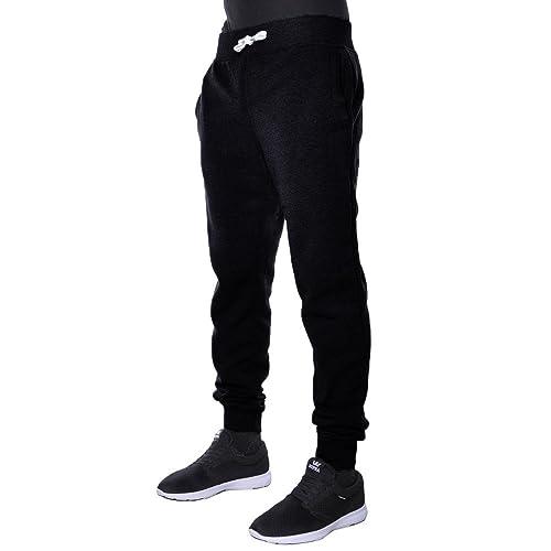 1709f1cb2ca0 Hat and Beyond Mens Fleece Jogger Pants Elastic Active Basic Urban Harem  Slim Fit