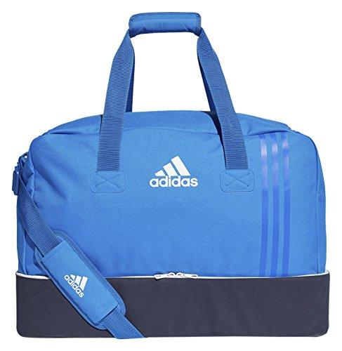 adidas Erwachsene Tiro Team-Tasche Mit Bodenfach M, Blue/Collegiate Navy/White, 28 x 54 x 39 cm