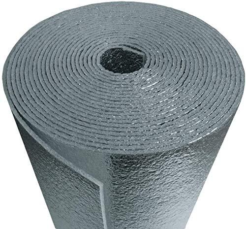 US Energy Products Reflective Aluminum Foil Foam Insulation: (2ft x 10ft) Industrial Grade Foam Core Radiant Barrier: Soudnproofing, Automotive Insulation, Weatherproofing, Roofs Floors, Windows, ETC