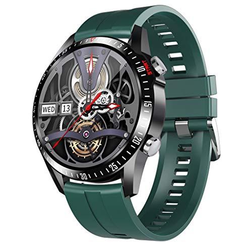 APCHY Reloj Inteligente Smartwatch GPS para Hombres,30 Llamadas Bluetooth,Seguidores De Actividades De Frecuencia Cardíaca,Presión Arterial, Pulsera Inteligente Deportiva, Medición De Temperatura,J