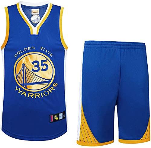 Traje De Baloncesto para Hombre 2 Piezas Camiseta/Chaleco Retro Baloncesto Shorts Verano Jersey Baloncesto Uniforme Camisa Y Pantalones Cortos, Negro, XL, Blue - M