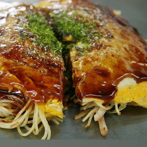 広島風お好み焼き 5枚セット 手作り焼きたて 冷凍便 (ソバ入3枚うどん入2枚)