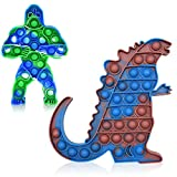 2PCS Big Size Toy Sensory Push Pop Jumbo Fidget Toys Relieves Stress and Anti-Anxiety for Kids...