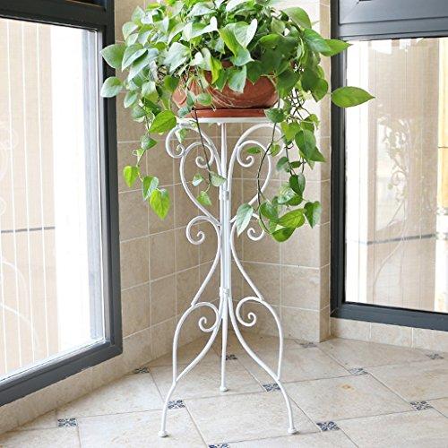 William 337 Stand de fleur fer forgé fleur Stand seul pot Rack salon balcon plante d'intérieur Stand (Couleur : A)
