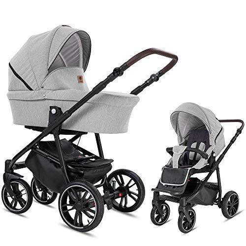 Bebebi Minigo Beat | 2 in 1 Kombi Kinderwagen Gelreifen Grey