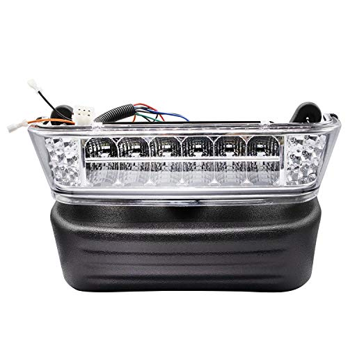 Club Car Precedent Led Head Light with Bumper Replacement or Upgrade for 2004-UP Golf Carts