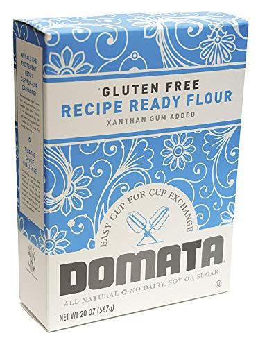 Domata Gluten Free Flour – 20 oz, Pack of 6 – Purpose Non-Gluten Flour – Cup for Cup Recipe Ready Flour – Xanthan Gum Added – No Dairy, Soy or Sugar – Healthy and Nutritious Alternative
