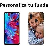 Mookase Funda Carcasa Personalizada para tu móvil Xiaomi con Foto, Imagen o Texto. Flexible, Bordes Transparentes (Note 7, Gel Flexible)