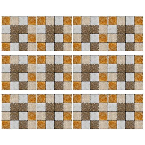 STOBOK 30 pegatinas para azulejos de mosaico, para decoración de hogar, cocina, baño
