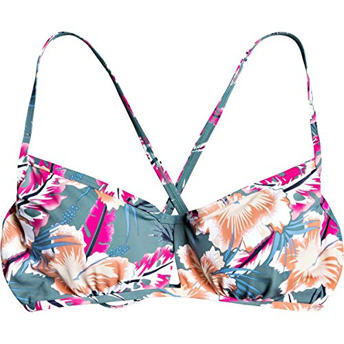 Roxy Printed Beach Classics Underwire D Cup Bikini Top Haut de Maillot de Bain, The North Atlantic Heritage Haw Probe, XS Femme