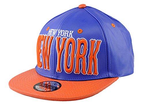 NYFASHION101 Casquette en Faux Cuir de Croco à Logo brodé de New-York. Produit Offert