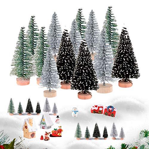 35 Stück Mini Weihnachts Baum, Weihnachtsbaum,Christmasbaum Mini Grün,Weihnachtsbaum Miniatur,Künstlich Klein Weihnachtsdeko,Mini Grün Tannenbaum,weihnachts baum klein,Künstlicher Weihnachtsbaum