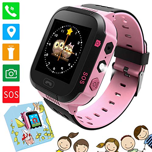 PTHTECHUS Smartwatch niños color rosa