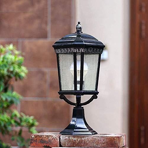 Candelabro,velas candelabro Calle Villa Exterior Decoración de escritorio del paisaje de la lámpara E27 Garaje Terraza Jardín Pabellón de la lámpara del césped antorcha lámpara 47cm Columna Faro alumi
