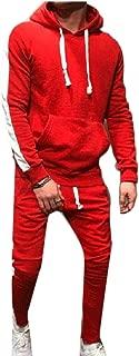 Maweisong Men Hoodie Sweatshirt 2 Pieces Sport Pants Sweatsuit Outfit Set