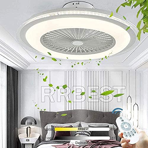 Luz de techo de ventilador LED 80W Ventilador moderno de techo con control remoto de iluminación Ventilador de techo regulable silencioso Lámpara de techo Ajustable Ventilador Ventilador Ventilador Lu