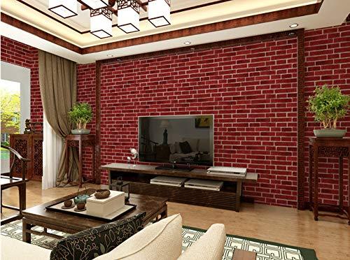 Preisvergleich Produktbild Ziegelsteintapetekleidungsgeschäfthotelhintergrundwand der Weinlese 3D Ziegelstein weißer Ziegelstein PVC-Tapete,  4