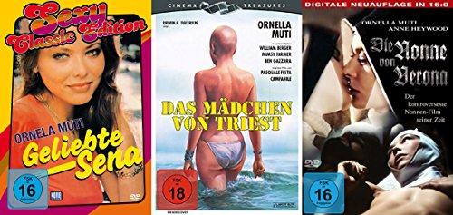 Sexy Classic ORNELLA MUTI Collection GELIEBTE SENA + DAS MÄDCHEN VON TRIEST + DIE NONNEN VON VERONA 3 DVD Edition