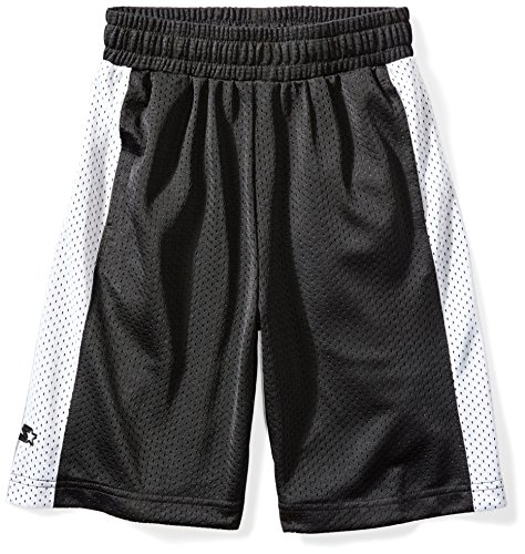 Starter Boy's 10' Mesh Short with Side Panel, Amazon Exclusive, Black with White, M (8/10)