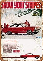 フォードフェアレーンGTAティンサイン壁鉄絵レトロプラークヴィンテージメタルシート装飾ポスターおかしいポスター吊り工芸用バーガレージカフェホーム