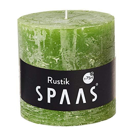 Spaas Vela rústica sin perfume 100/mm, 75 horas, color verde oliva