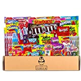 Bite Sized Candy Care Package - (50 count) A Sampler of Skittles, Sour Patch Kids, Starburst, M&M's,...