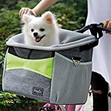 Petsfit Safety Dog Bike Basket for Small Dogs and Good for All Bikes