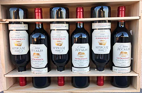 Vino Tinto Château Jucalis Saint-Émilion Grand Cru 6 botellas 0.75l estuche madera
