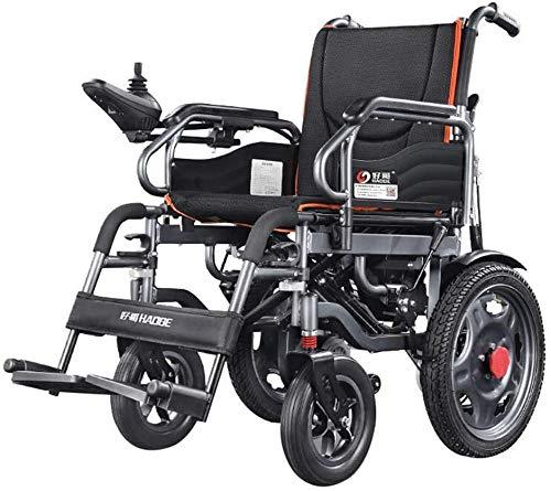 Silla de ruedas eléctrica plegable de doble función, con silla de ruedas eléctrica o manual, adecuada para discapacitados y personas mayores (12 millas)