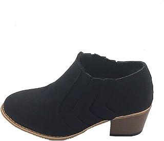 97bcaf1c Botines Mujer Tacón Medio, Chelsea Piel Elásticos 5 Cm Zapatos De Botas  Comodos Fiesta Vintage