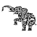 MOHENDI Elefanten-Mandala-Schablone, wiederverwendbar, A5, A4, A3 & größere Größen,...