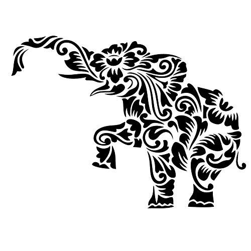 MOHENDI Elefanten-Mandala-Schablone, wiederverwendbar, A5, A4, A3 & größere Größen, Wanddekoration, Shabby Chic/Animal3, Widerverwendbare PVC-Schablone, A4 size - 210 x 297 mm, 8.3 x 11.7 in