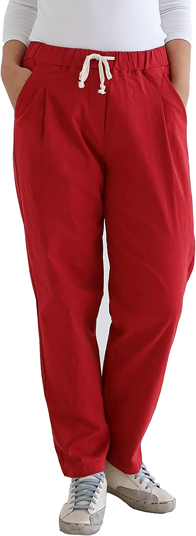 CP & U Women's Casual High Rise Elastic Waist Pull On Pants. Lolipop Pants