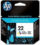 HP C9352AE 22 Original Ink Cartridge, Tri-color, Pack of 1