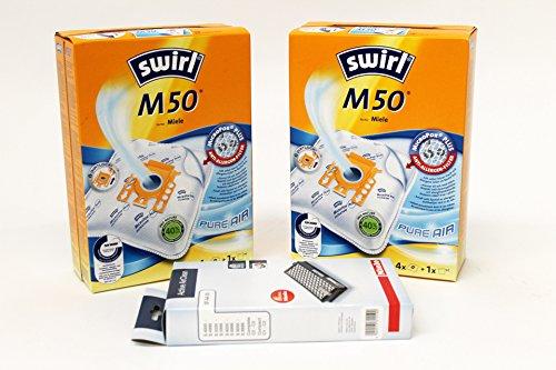 2x Miele M50MicroPor Staubsaugerbeutel, Micro-Filter, 1x Original Miele SF-AA50Schwebstofffilter von Sparegetti