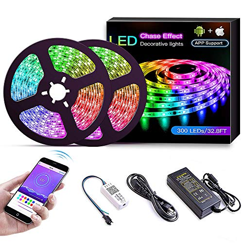 Simfonio LED Strip 3m Lichterkette - LED Streifen Kompatibel mit Alexa, Google Home, IFTTT, Wifi Wireless Smart Phone Gesteuert - LED Stripes 3m Wasserdicht 150Leds 5050 SMD RGB LED Band Full Kit