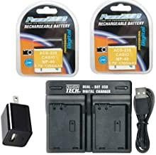 2X LB-060 Batteries + Charger for Kodak PIXPRO AZ522, PIXPRO AZ521, PIXPRO AZ501, PIXPRO AZ421, AZ361,PIXPRO AZ362,
