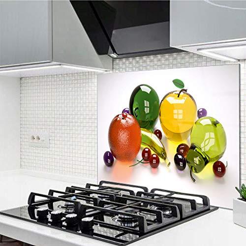 Horno para la cocina protector contra salpicaduras resistente al calor decoración guardia trasera proteger proteccion mural panel rasguño resistir Talla: 60x52cm-No:224