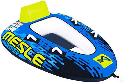 MESLE Tube Bumper, Towable für 1 bis 2 Personen, Inflatable Fun-Tube Multi-Rider Cockpit-Tube, Wassersport Schlepp-Reifen für Boot, Kinder Erwachsene, aufblasbar ziehbar, Jet-Ski Yacht, blau-Lime