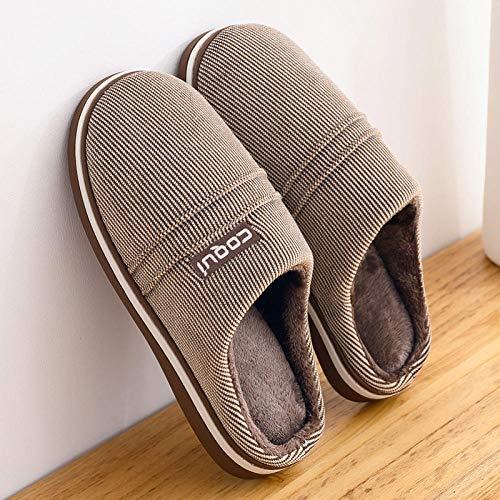 Cxypeng Zapatillas de casa Mujer,Deslizadores del algodón de la Tela Escocesa del Invierno de los Hombres, Zapatos de Plataforma Antideslizantes,Zapatillas de Piel Sintética Suave para Mujer