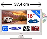 Combiné DVD TV Blanche pour Camping Car Camion Fourgon 15,6' 39cm LED HD TNTUHD 220V...