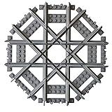 Caterpillar Red Mult V2 Mit kompatible, maßgearbeitete Kreuzungsschiene, Kreuzung mit geraden Schienen, Kompatibel mit führender Marke Eisenbahnschienen und Sets, gerade Gleise -
