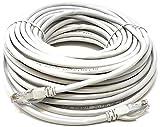 Mr. Tronic 100m Ethernet Netzwerk Netzwerkkabel | Patchkabel | CAT6, AWG24, CCA, UTP, RJ45 (100 Meter, Weiß)