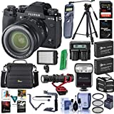 Fujifilm X-T3 Mirrorless Camera with XF 16-80mm F4.0 R OIS WR Lens, Black - Bundle with 128GB SDXC Card, Camera Case, 2X Spare Battery, Zoom Flash, Tripod, Video Light, Software Package and More