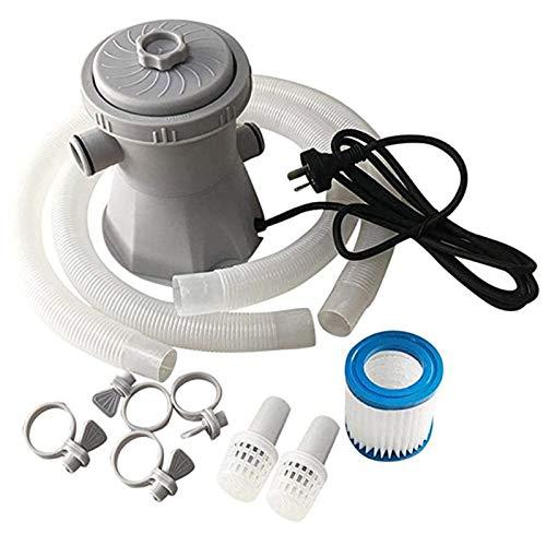 EEUK Pompa per Piscina Fuori Terra, Pompa Filtro a Sabbia per Piscina, Pompe per Piscine Gonfiabile e Vasche Idromassaggio per la Pulizia della Piscina