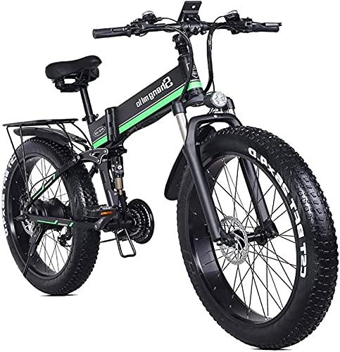 Bicicleta electrica Bicicleta eléctrica plegable para adultos 26 'Bicicleta eléctrica / bicicleta eléctrica con motor de 1000W 48V 12.8Ah batería profesional 21 velocidad de transmisión de velocidad