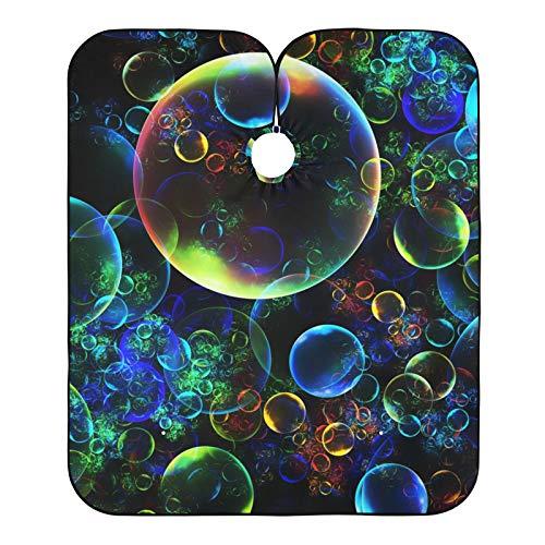 Cabo de peluquería digital con burbujas fractales impresas, capas de corte de pelo, babero para el salón de casa y peluquería